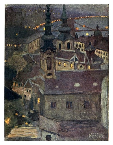 001-Atardecer en la ciudad de Buda-Hungary and the Hungarians 1908- Bovill W.B Forster