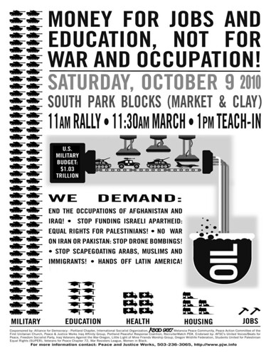 Oct 9 War Rally Flyer