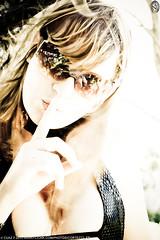 Jennifer 08693 (Cortez77_fr same nickname on Ipernity) Tags: portrait woman france tree sexy girl sunglasses forest hair model focus dof wind finger processing overexposed modele blackdress chut frenchriviera toulon montfaron ennifer faronmount