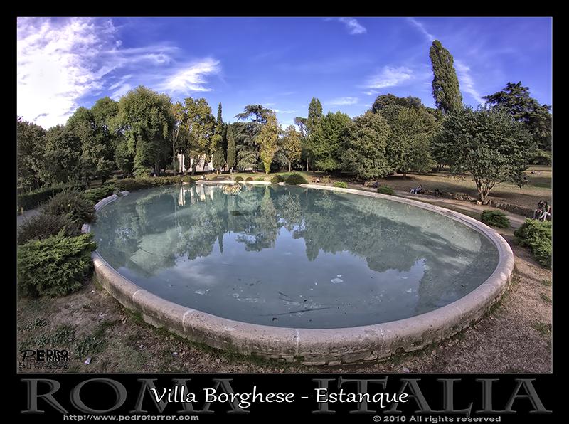 Roma - Villa Borghese - Estanque