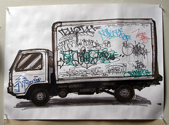 Optimist and friends (funkandjazz) Tags: truck de graffiti drawing memories tags pop destn optimist mds naka zeam plantrees gats bkf safety1st davidattenborough