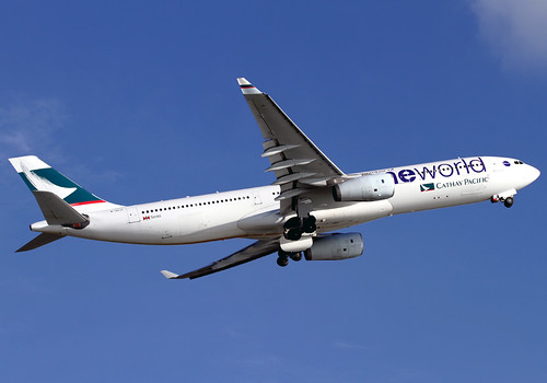 Airbus | A330-343X | Cathay Pacific Airways | oneworld Scheme | B-HLU | Hong Kong | HKG | VHHH