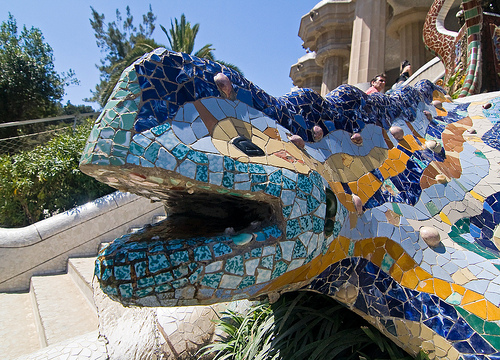 Detail Park Guell, Barcelona, Spain