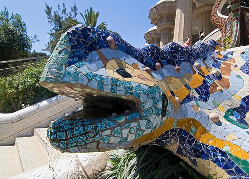 Detail Park Guell, Barcelona, Spain
