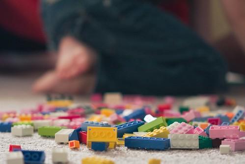 Addie's first Legos