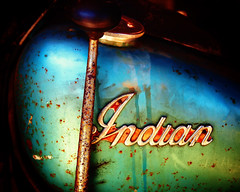 Indian (avilon_music) Tags: california 1948 vintage rust indian motorcycles olympus 1940s rusted motorcycle weathered e3 southerncalifornia gastank corroded vintagemotorcycle indianmotorcycles americanmotorcycles jockeyshift 1948indianchief markpeacockphotography avilonmusic tankemblems