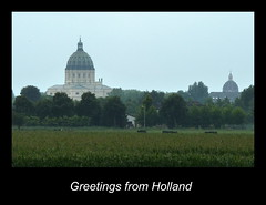 Greetings from Holland (Cathpetsch) Tags: holland netherlands landscape basilica nederland landschap basiliek oudenbosch