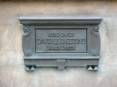 Photo of David Livingstone bronze plaque