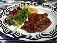 Grilled beef steak at Missoni's Cucina restaurant, Edinburgh