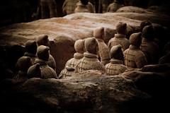 The Terracotta Warriors, Xi'an (Akira2506) Tags: world china horses horse heritage wonder soldier army site ruins terracotta first unesco mausoleum xian terracottawarriors warriors lintong  chariot emperor qin shaanxi 4stars bingmayong qinshihuang blackandgold  canoneos5dmarkii sigma70300mmf3556dgapo