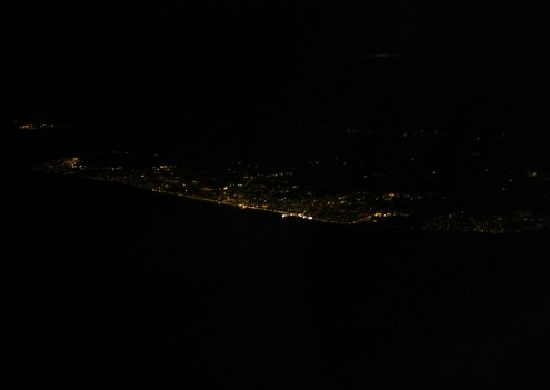 Blackpool and the Flyde coast at night