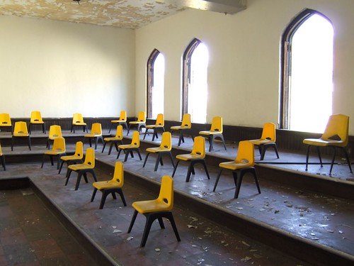 a classroom in Braddock (by: Mark Knobil, creative commons license)