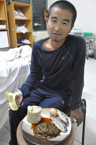 Hiromu with Malaria