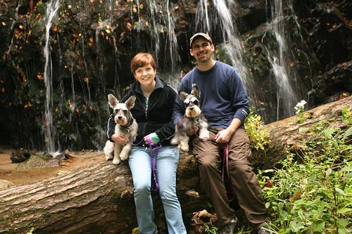 us and pups @ Glen Burney Falls