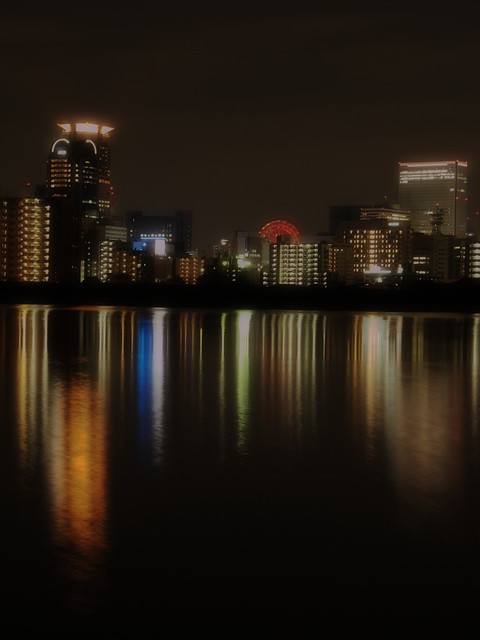 Night scene in yodo-river