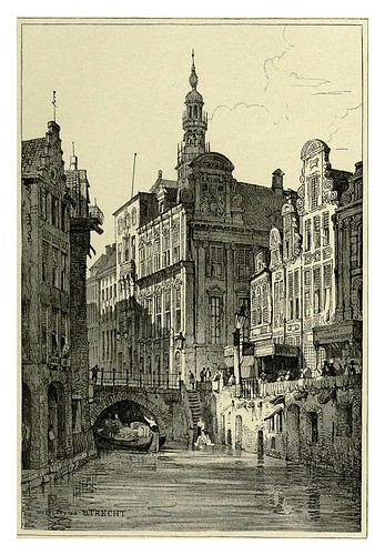 034-Utrecht-Sketches by Samuel Prout in France Belgium….1915