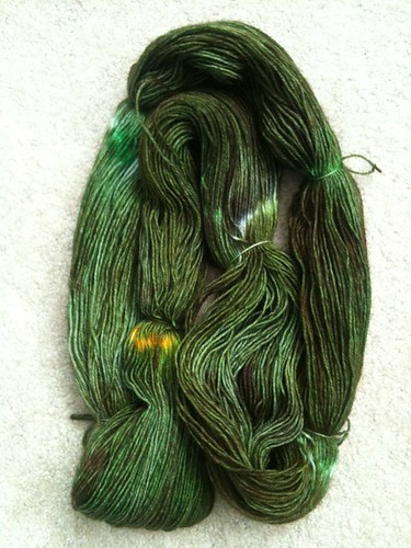 My first hand-dyed yarn