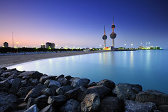 Kuwait Towers in Blue hour ( Saleh AlRashaid / www.Salehphotography.net) Tags: city blue sunset seascape art sunrise landscape photo long exposure ray cityscape gulf state photos towers middleeast arab hour kuwait reverse nano vr d3 gcc kuwaiti singh  q8  saleh 1635  kuwaity           stateofkuwait    d3x   kuwaitphoto kuwaitphotos kuwaitpic q8photo  canonef1635mmf28lii canoneos5dmarkii  q8pic    alrashaid salehalrashaid  salehphotographynet