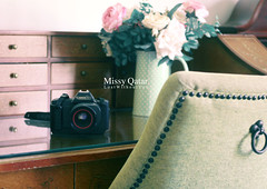 Since 1985 (Missy | Qatar) Tags: camera old flowers home canon chair desk 1985 t80