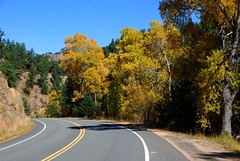Boulder Bike Route: Left Hand Canyon (Let Ideas Compete) Tags: road autumn fall colors highway colorado colours hand canyon boulder foliage co essence curve curved left lefthand abendintheroad acurveintheroad