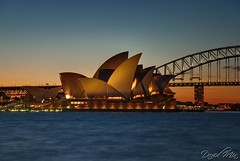 Sydney Opera House @sunset, Australia (GlobeTrotter 2000) Tags: new bridge sunset summer vacation house tourism wales garden golden harbor opera harbour south sydney arts royal australia visit orchestra nsw boanical gettyvacation2010