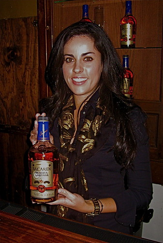 andrea iturbe with rum bottle