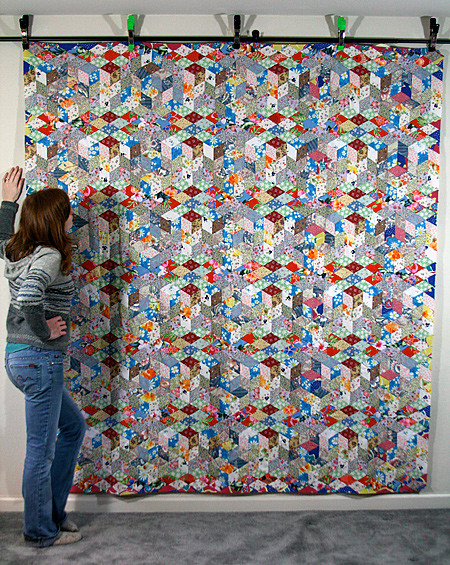 Me with Dad's Latest Quilt Top
