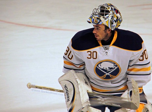Buffalo goalie Ryan Miller
