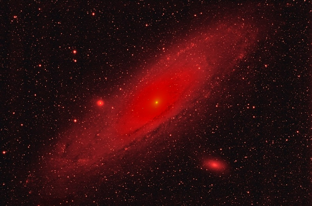 M31 (NGC224) Andromeda in hydrogen alpha