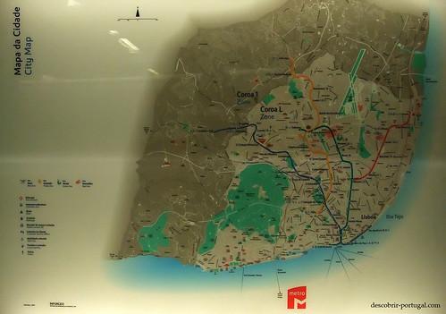 Mapa da cidade e do seu metro