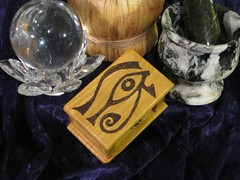 Woodburned Eye of Horus Box I 1