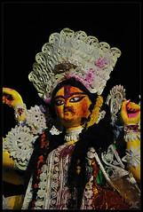 Smeared with the colours of Love, Joy and Prayers she leaves (Debangshu Chakraborty) Tags: nikon puja durga 2010 siliguri d90 chakraborty debangshu