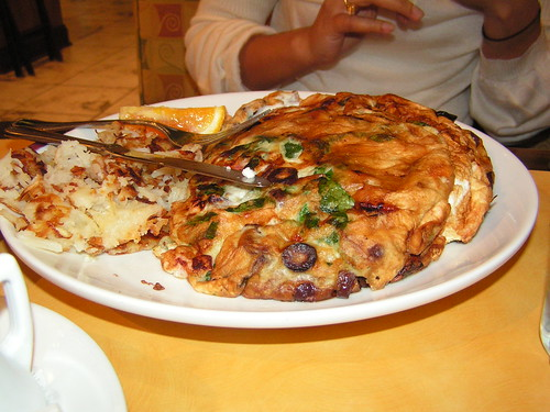 Mediterranean Omelet and Hashbrowns