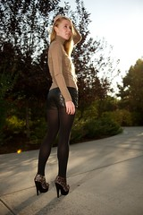 DSC_3401 (FASHION SNAG) Tags: stockings leather tights leopard cashmere turtleneck ocelot bootie animalprint ankleboot leathershorts