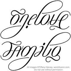 """One Love"" & ""Family"" Ambigram"