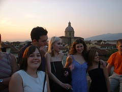 DSCF0161 (lilbuttz) Tags: sunset party sky italy rooftop florence helensbirthday helensapartment exactlocationunknown accentflorencespring2002