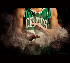 Smoke N' Mirrors (lawrencechua) Tags: green boston paul 50mm nikon wizard g smoke 14 mirrors powder ii jersey pierce plus pocket nba clap celtics afs sb800 beautydish strobist nikond700 lumodi