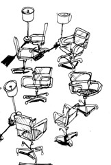 Office Chairs (Pencil + Pen) Tags: office chiars