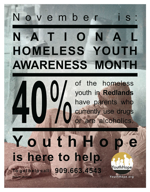 National Homeless Youth Awareness Month Print 1