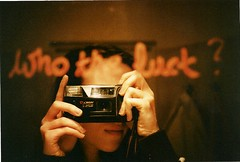 (sinister kid) Tags: red film girl analog self lipstick expired mirrorshot yashicat3 fuckedupsharpness thefuckingmostoriginaltagofalltime