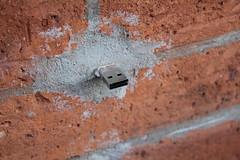 USB aus der Wand