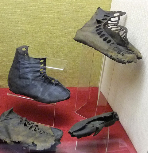 Roman shoes, Roman Army Museum, Britain 2009-1