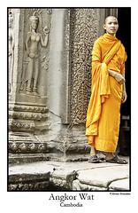 Monje en Angkor (JR. Álvaro González) Tags: cambodia monk angkorwat angkor monje budismo camboya budism