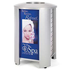 RT3001CUST - 40 Gallon Signature Receptacle with Custom & Stainless Steel Panels