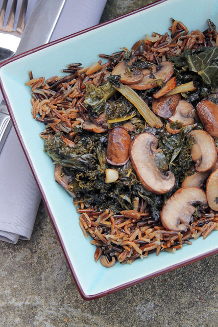 Wild Rice, Chestnuts Mushrooms and Kale - 70/365