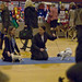 Katarina and Carbriella Carlid in the Puppies Final pre judge ring