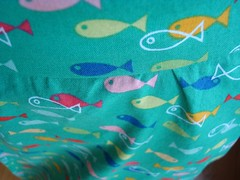 fish skirt fabric detail