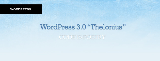 Wordpress 3.0 Thelonius