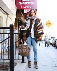 chunky sweater (the coveted) Tags: nyc scarf boots jeans chunkysweater