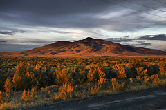Sun Setting on Nevada (Michelle Pilling Photography) Tags: nevada wells metropolis hdr wendover